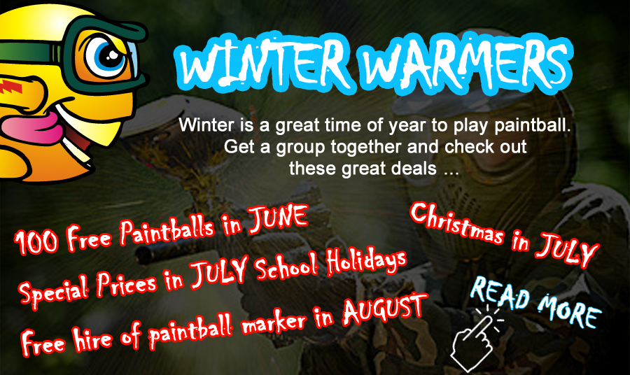 Paintball Specials during June July and August