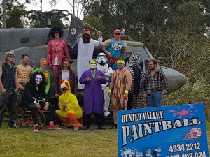 paintball super hero party